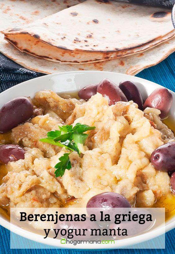 Receta de Berenjenas a la griega y yogur manta