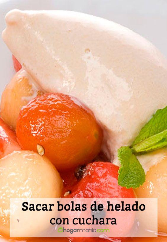 Cómo sacar bolas de helado con cuchara