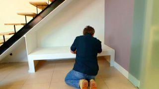 Sofá bajo la escalera - Paso 10