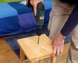 Cómo hacer una mesilla con un taburete - Paso 1
