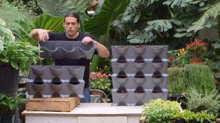 Cavidades del kit de jardines verticales