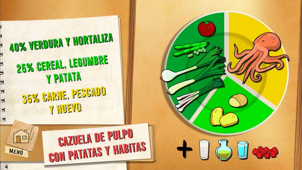 Cazuela de pulpo con patatas y habitas