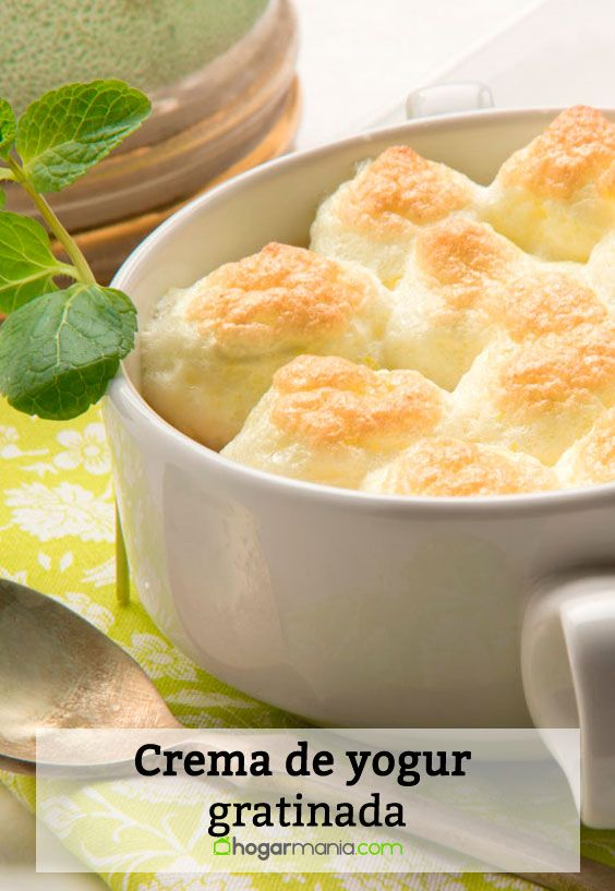 Crema de yogur gratinada
