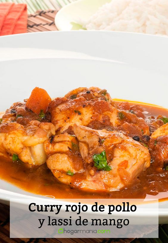 Receta de Curry rojo de pollo y lassi de mango