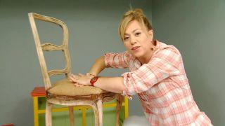 Cómo tapizar una silla - Paso 1