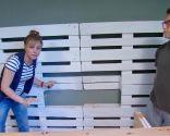 sala juvenil con mueble de palés - paso 3