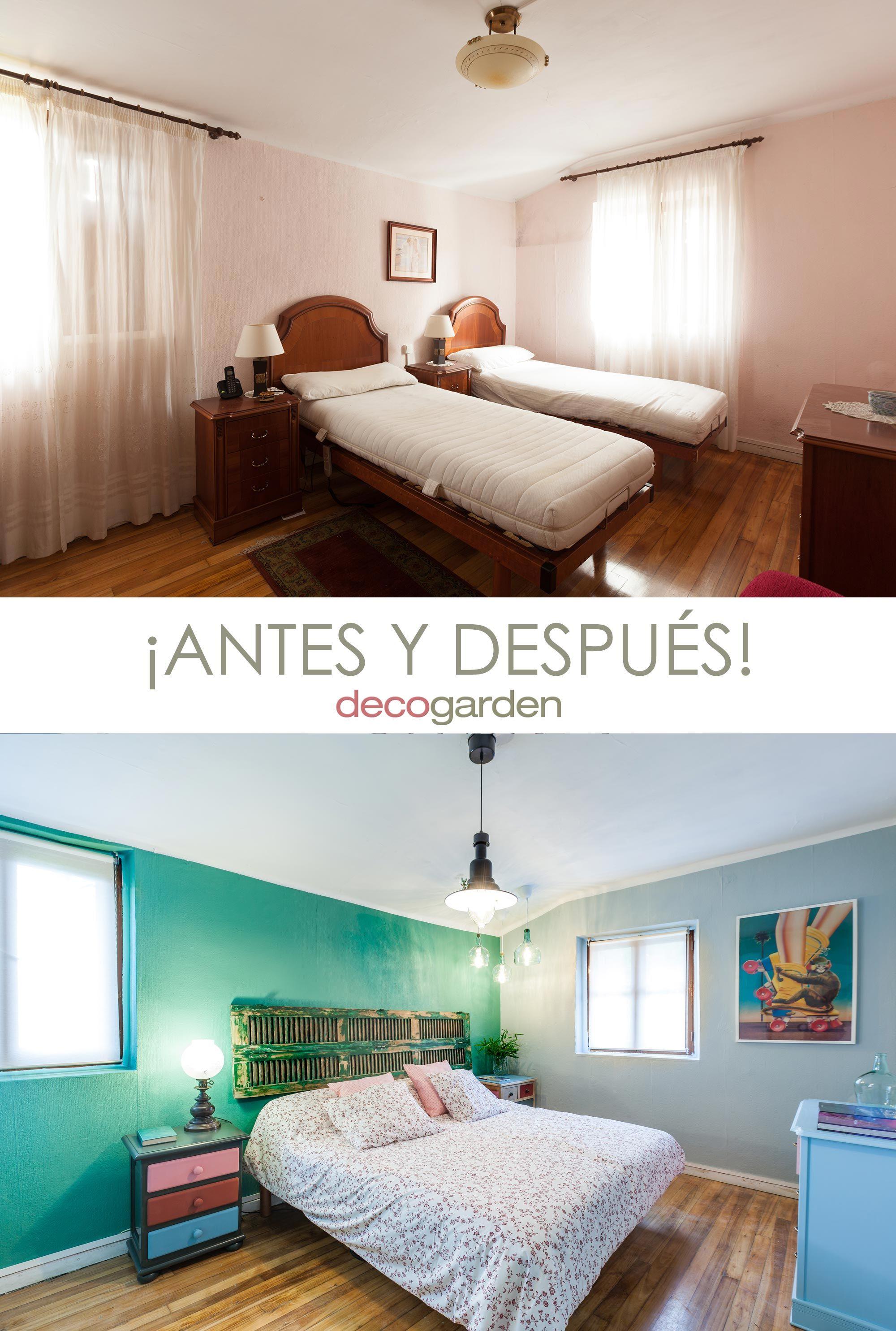 dormitorio juvenil con muebles reciclados