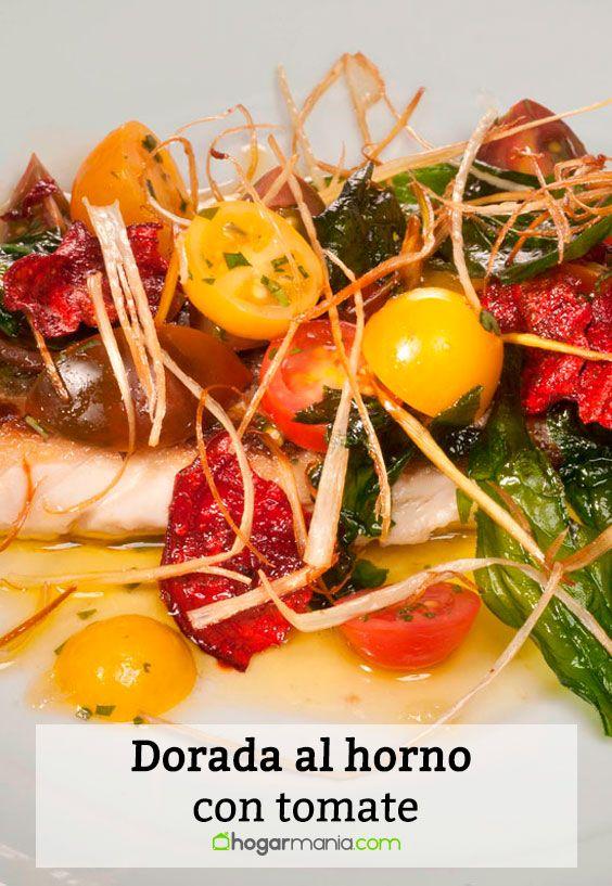 Receta de Dorada al horno con tomate