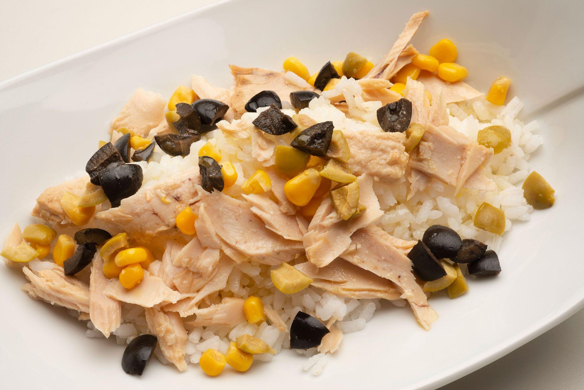 receta de ensalada de atún con arroz