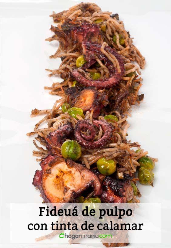 Receta de Fideuá de pulpo con tinta de calamar