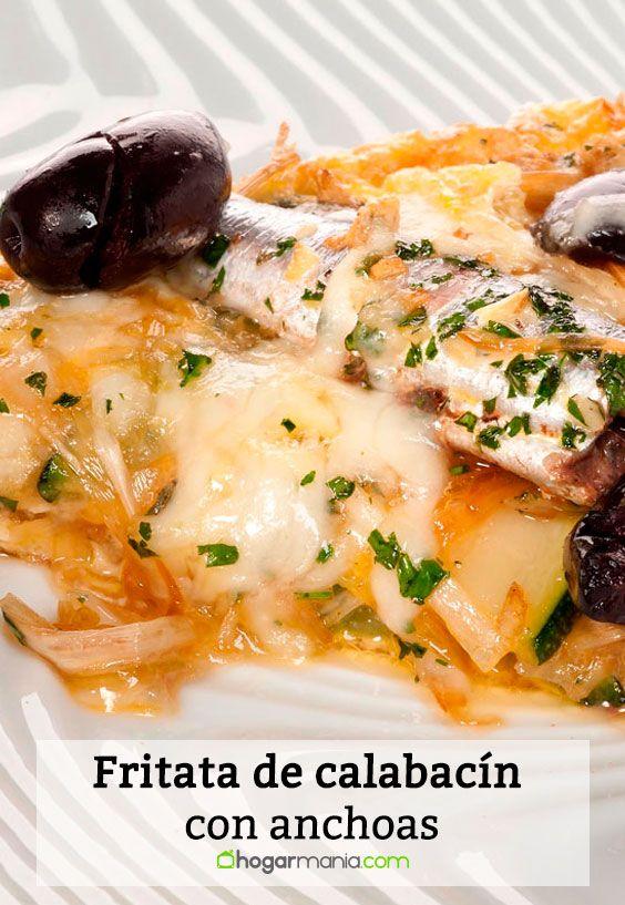 Receta de Fritata de calabacín con anchoas
