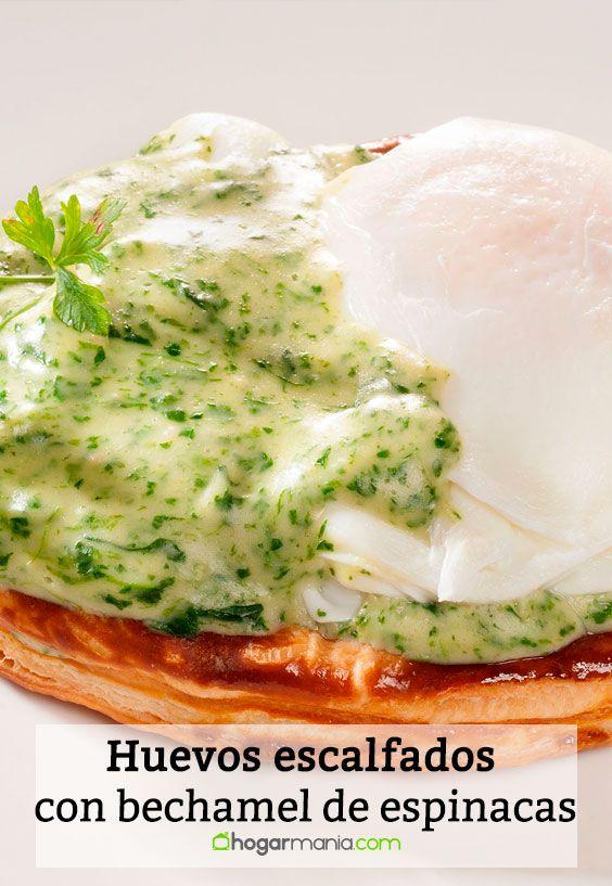 Receta de Huevos escalfados con bechamel de espinacas