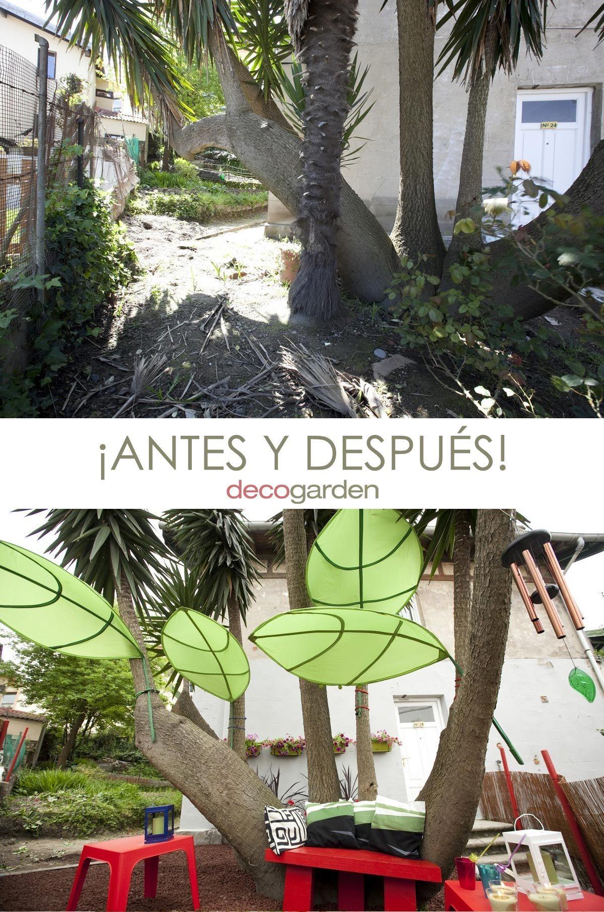 jardín paraíso natural - antes y después
