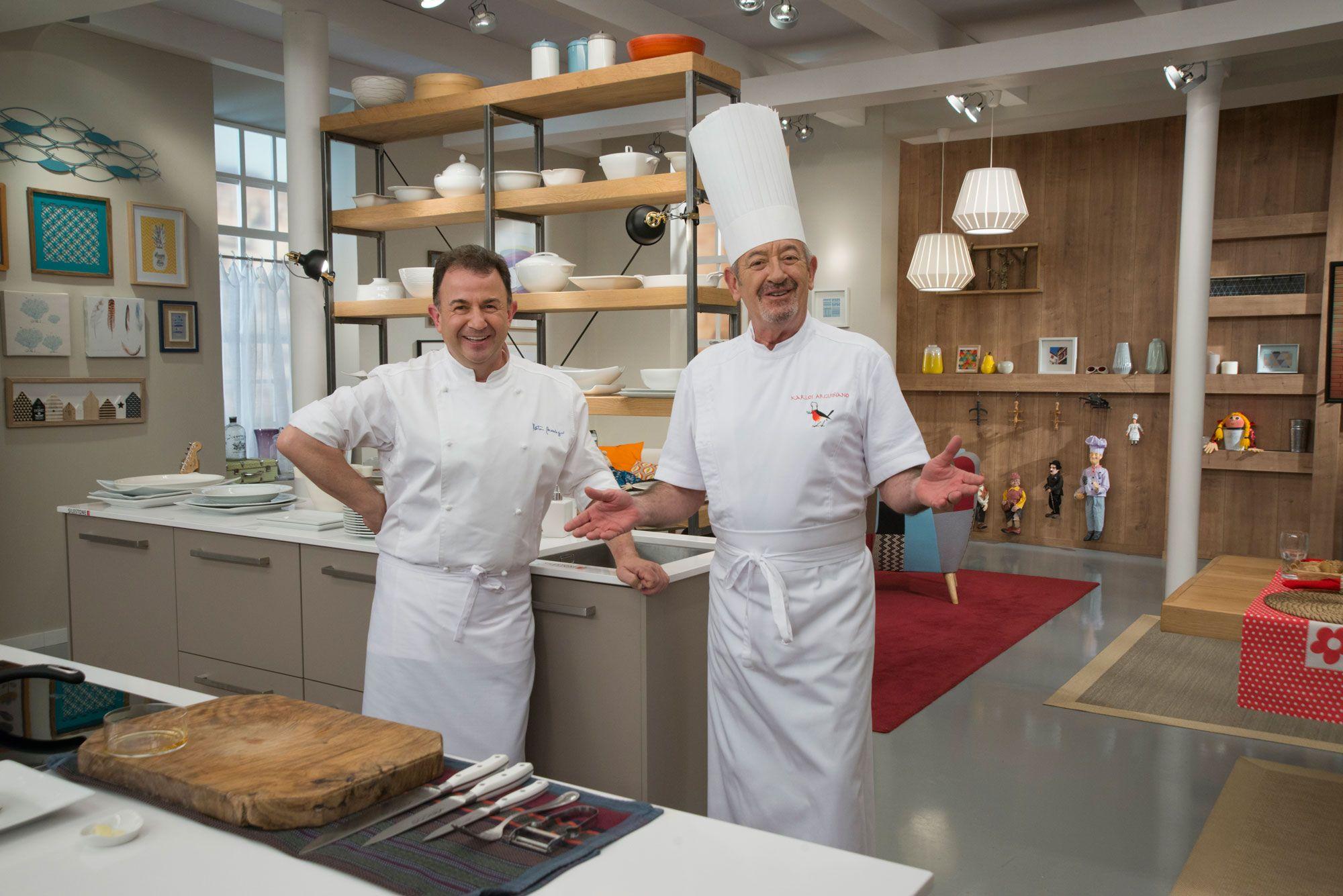 Karlos Arguiñano con el 'maestro' Martín Bersategui, el cocinero con más estrellas Michelin de España