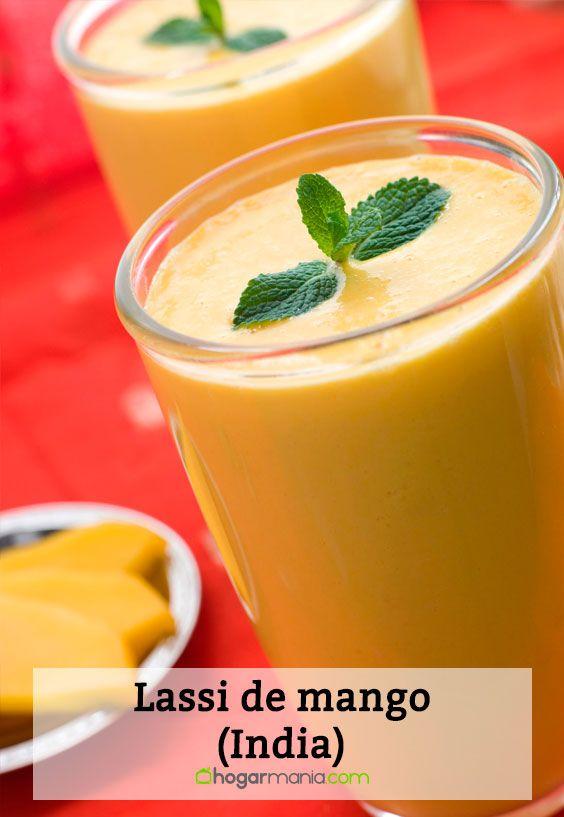 Receta de Lassi de mango, bebida tradicional de la India