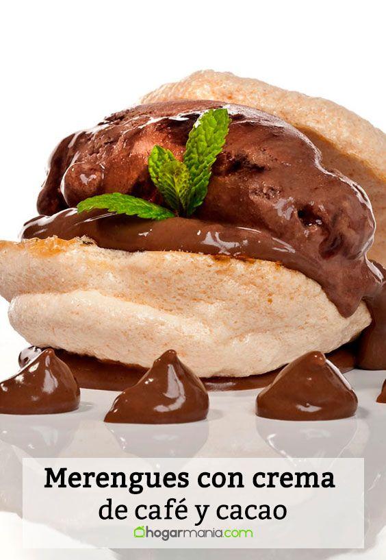 Receta de Merengues con crema de café y cacao