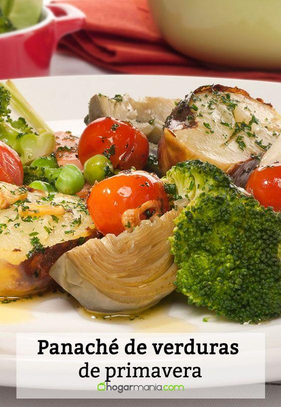 Receta de Panaché de verduras de primavera