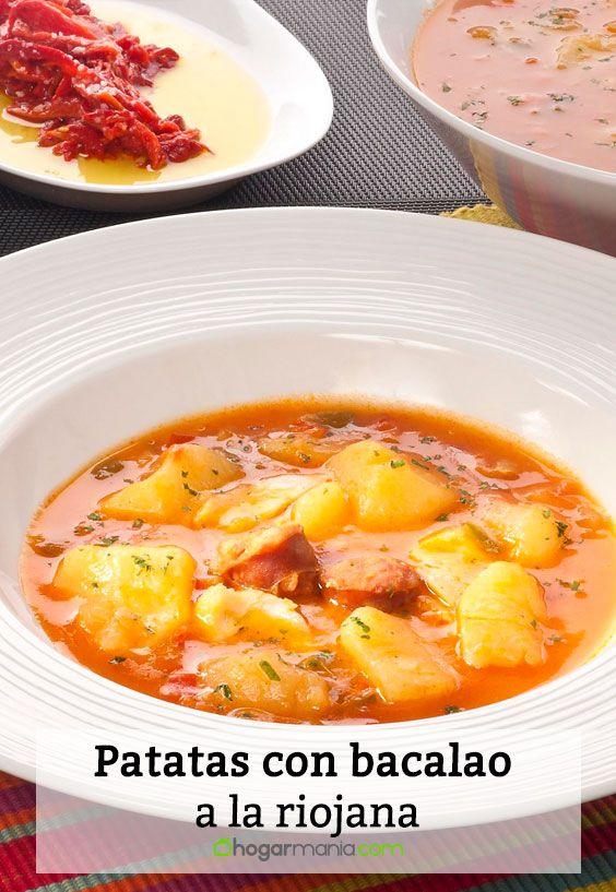 Receta de Patatas con bacalao a la riojana