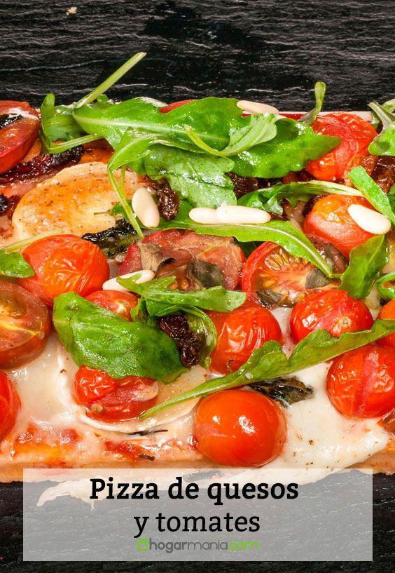 Receta de Pizza de quesos y tomates