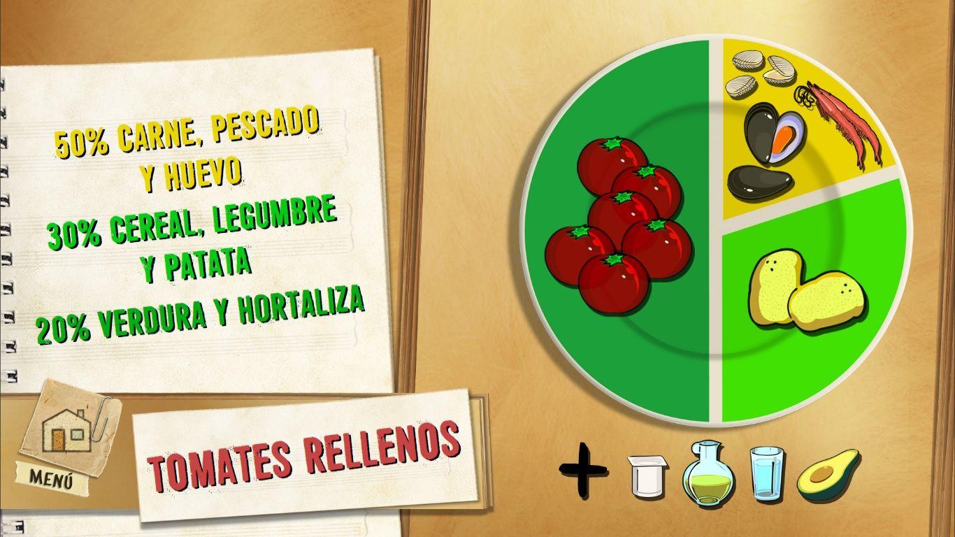 plato tomates rellenos de puré de patata y marisco