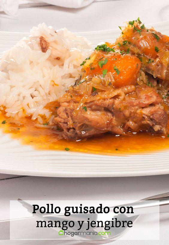 Receta de Pollo guisado con mango y jengibre