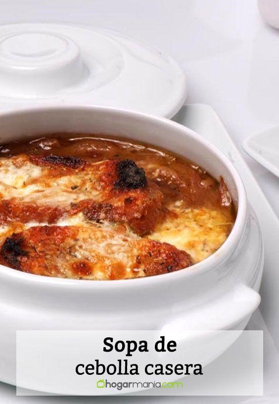Receta de Sopa de cebolla casera