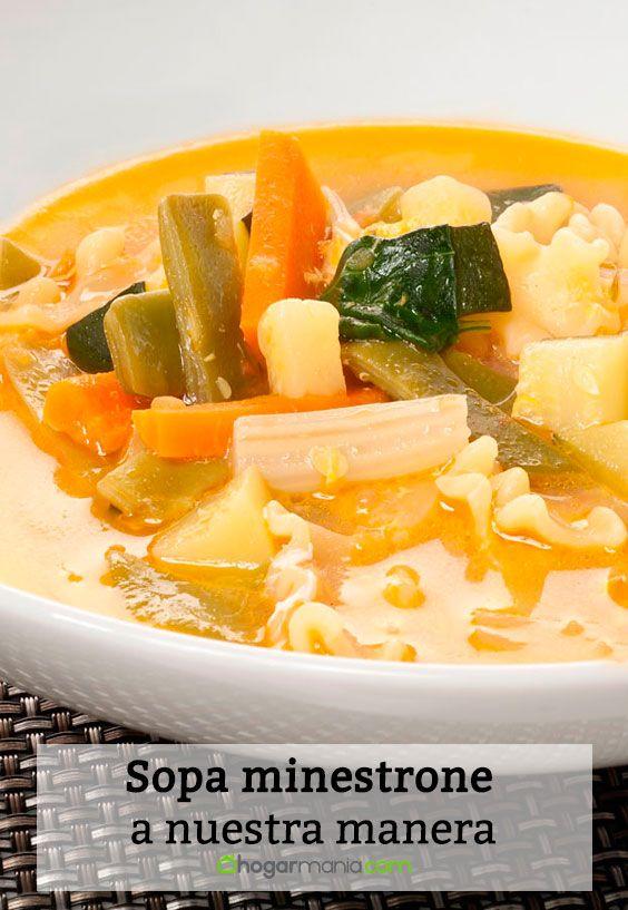 Receta de Sopa minestrone a nuestra manera