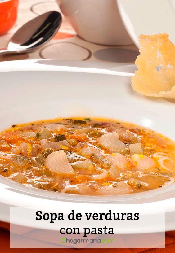 Receta de Sopa de verduras con pasta