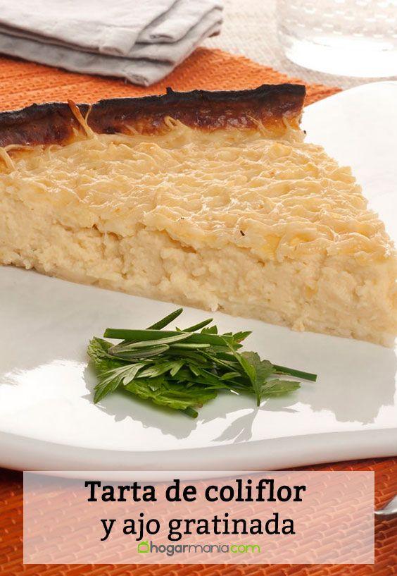 Receta de Tarta de coliflor y ajo gratinada