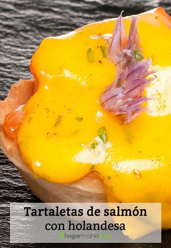 Receta de Tartaletas de salmón con holandesa