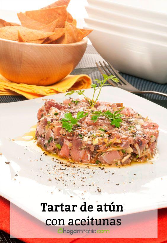 Receta de Tartar de atún con aceitunas