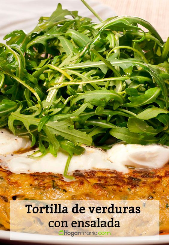 Receta de Tortilla de verduras con ensalada