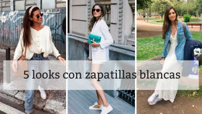 5 looks con zapatillas blancas