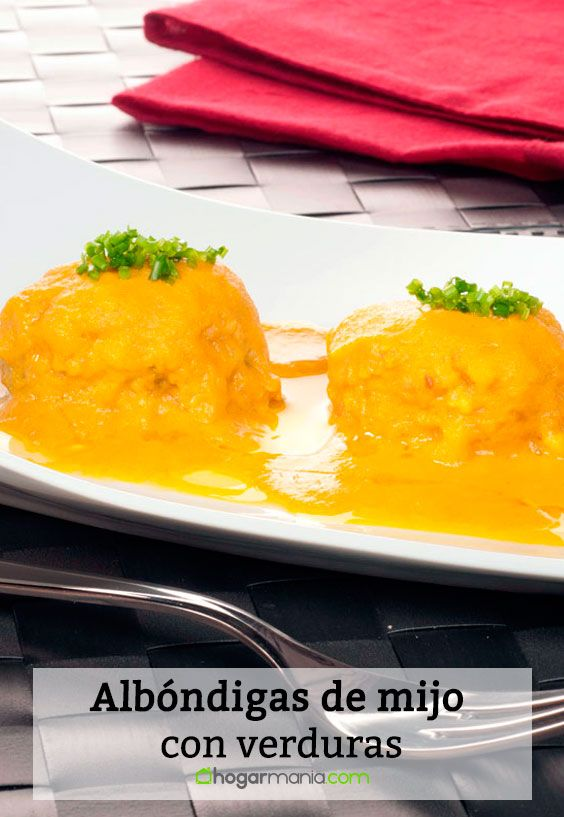 Receta de Albóndigas de mijo con verduras.