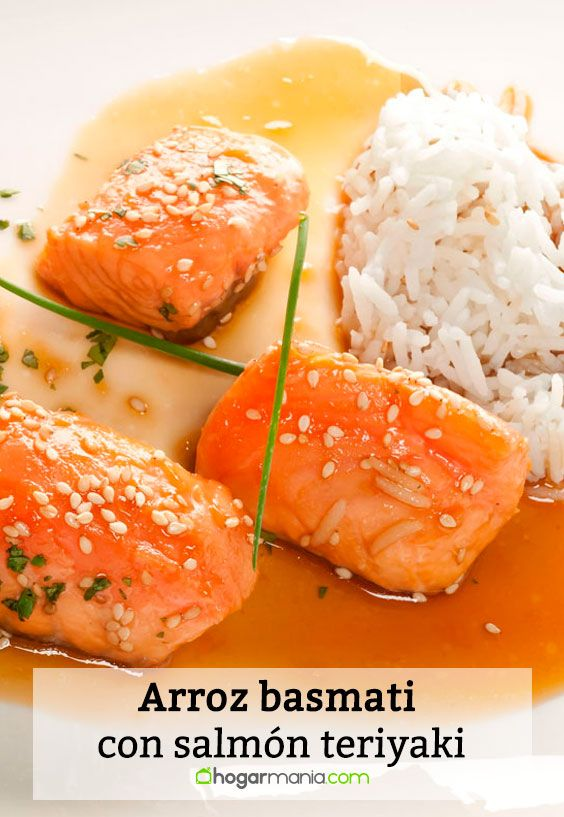 Receta de Arroz basmati con salmón teriyaki.