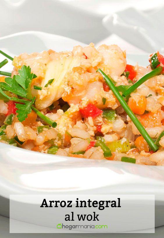 Receta de Arroz integral al wok.