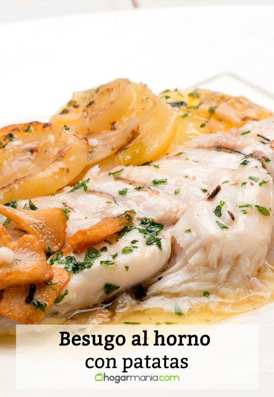 Receta de Besugo al horno con patatas