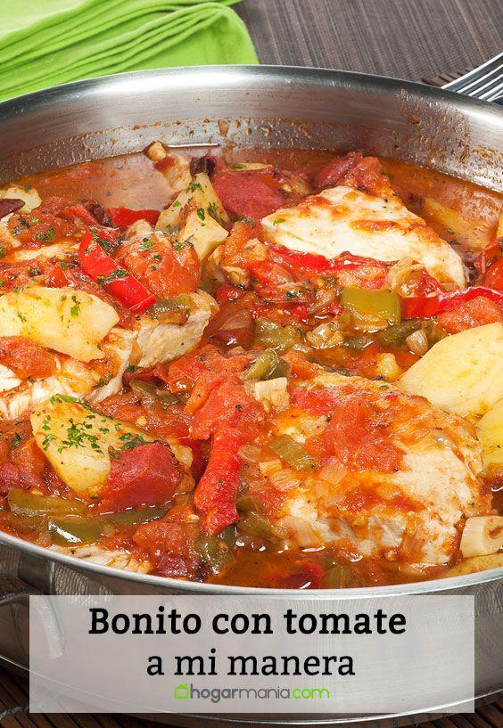Receta de Bonito con tomate a mi manera.
