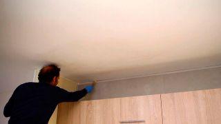 Cómo pintar el techo de la cocina - Paso 3
