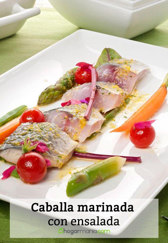 Receta de Caballa marinada con ensalada