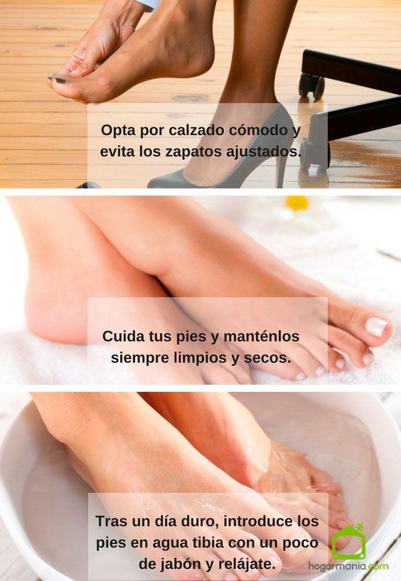Consejos para prevenir callos y durezas en los pies.