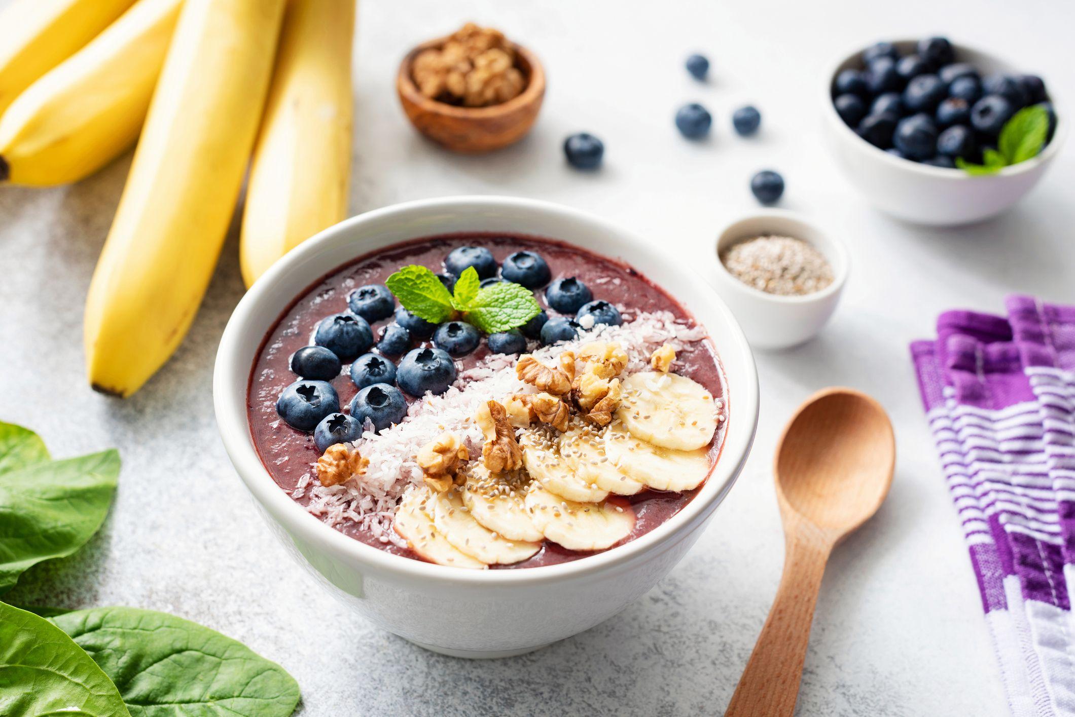 Acai bowl, un desayuno saludable, lleno de energía y propiedades saludables.