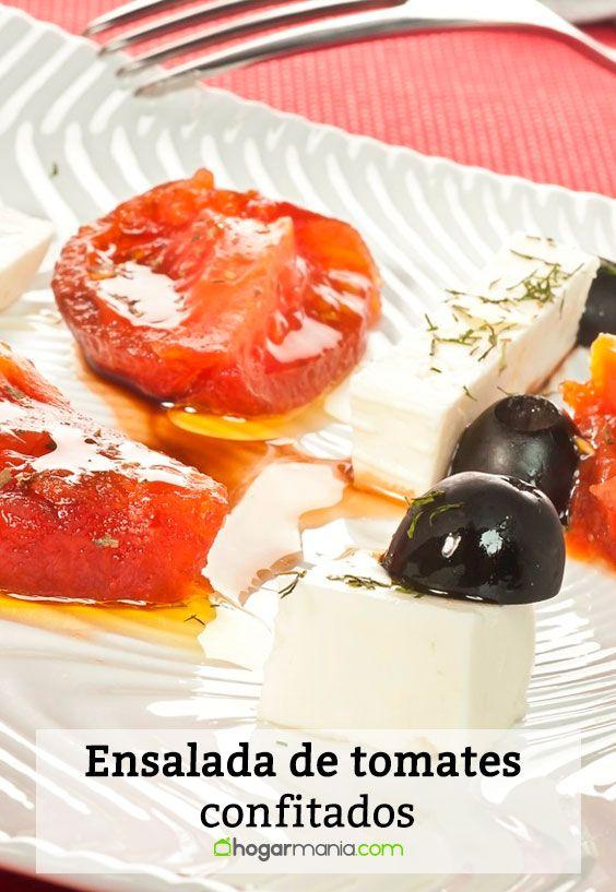 Receta de Ensalada de tomates confitados