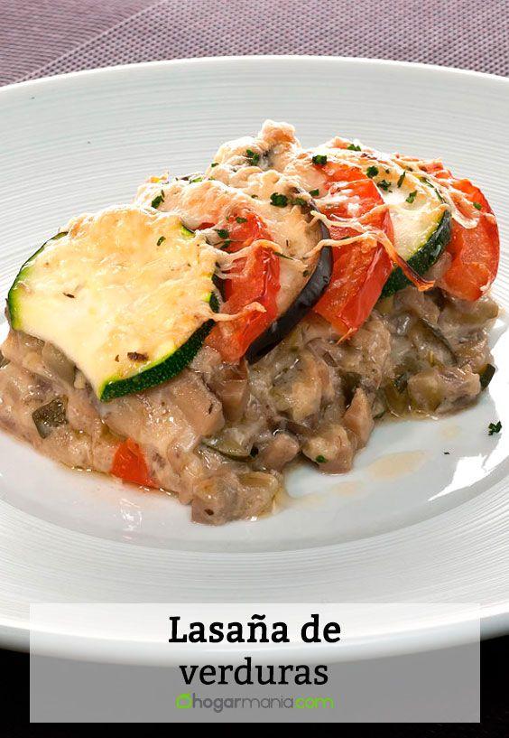 Receta de Lasaña de verduras.