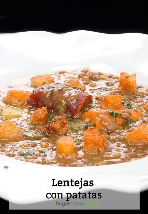 Receta de Lentejas con patatas