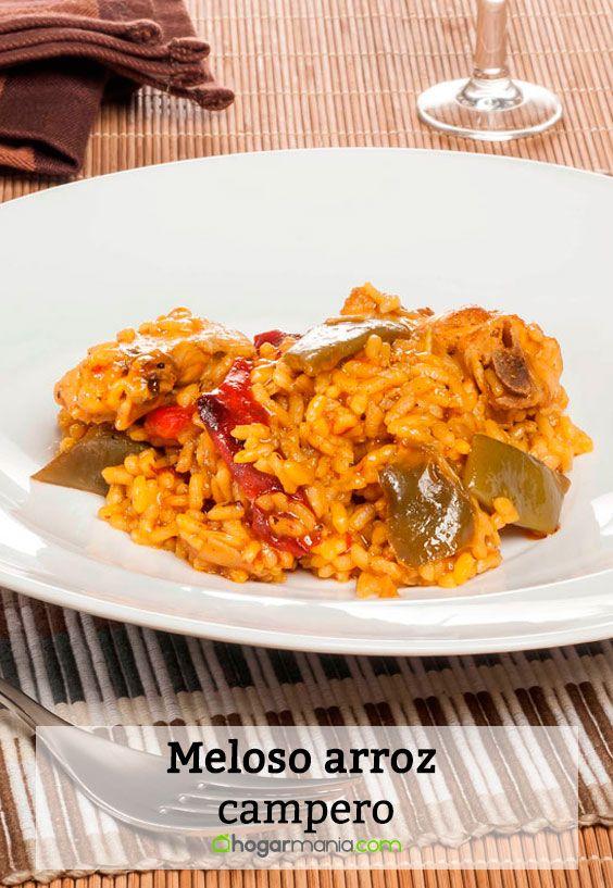 Receta de Meloso arroz campero.