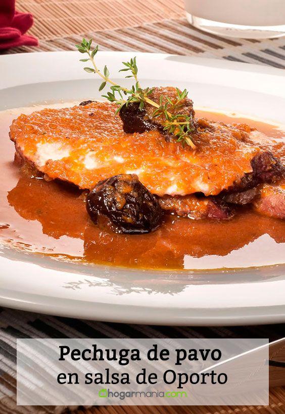 Receta de Pechuga de pavo en salsa de Oporto.