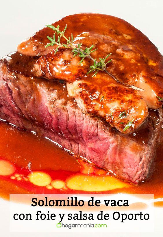 Receta de Solomillo de vaca con foie y salsa de Oporto.