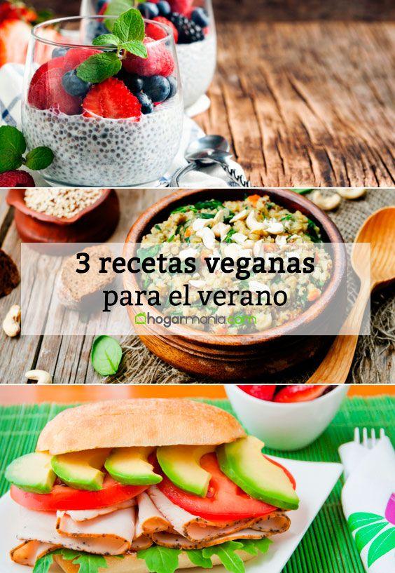 3 recetas veganas para el verano.