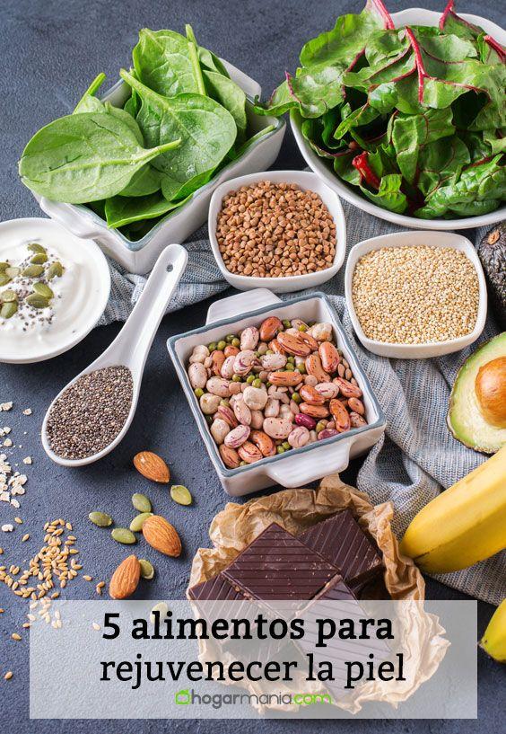 5 alimentos para rejuvenecer la piel.